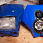 Compare the two headlights