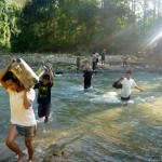 10 ktm se panniers crossing river