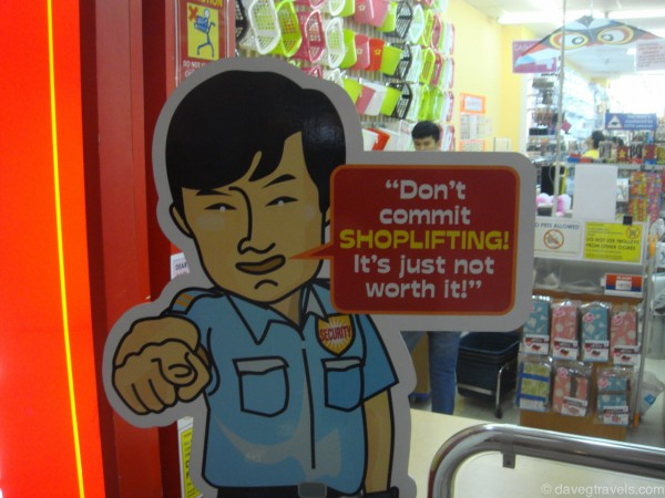 Don't shoplift!! Sersiously!!! I'm Pointing at you!!!!!